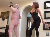 Furious Whipping: Clearly Mistress Tori is pissed about something, but her slave has no idea what. What he does know though that he will be on the receiving end of her whip. Ouch!