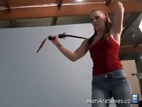 Epic Whipping: This slave worships Molly and he will do anything for her, so today he suffers a truly epic whipping to please her.